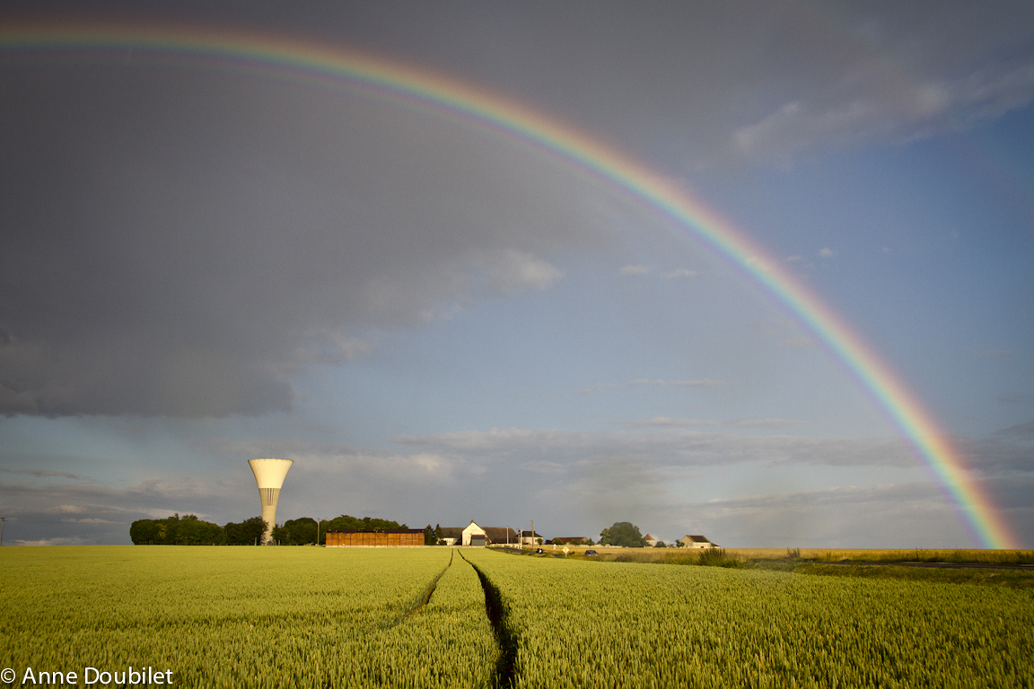Rainbow, Mal Maison, Normandy, France.